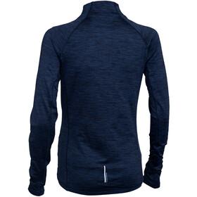 Salming Norviken Halfzip LS Shirt Women blue melange